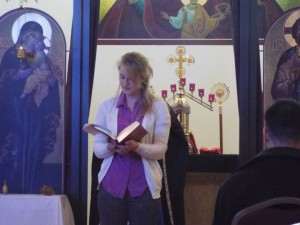 Antiochian Women, Susan Reading Epistle