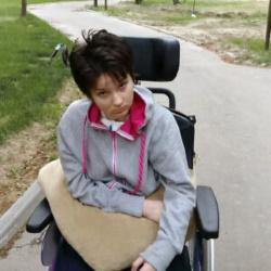 Anna in wheelchair